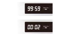 特長1-2  タイマー機能(最大99分59秒)